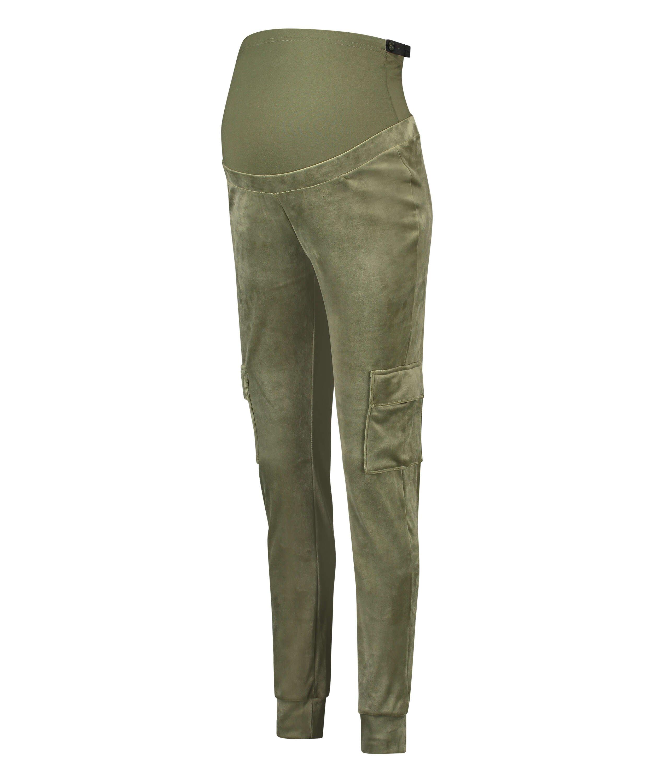 Pantalon de jogging de maternité Velour, Vert, main