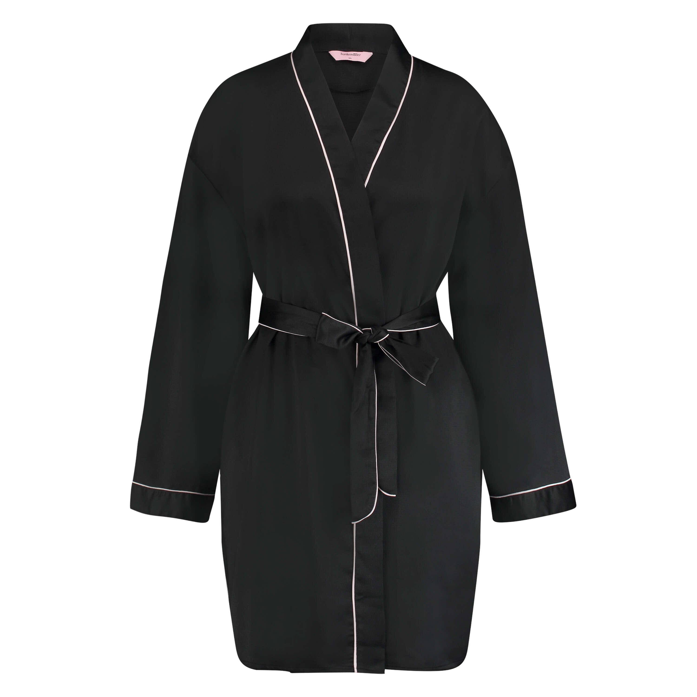 Kimono Satin, Noir, main