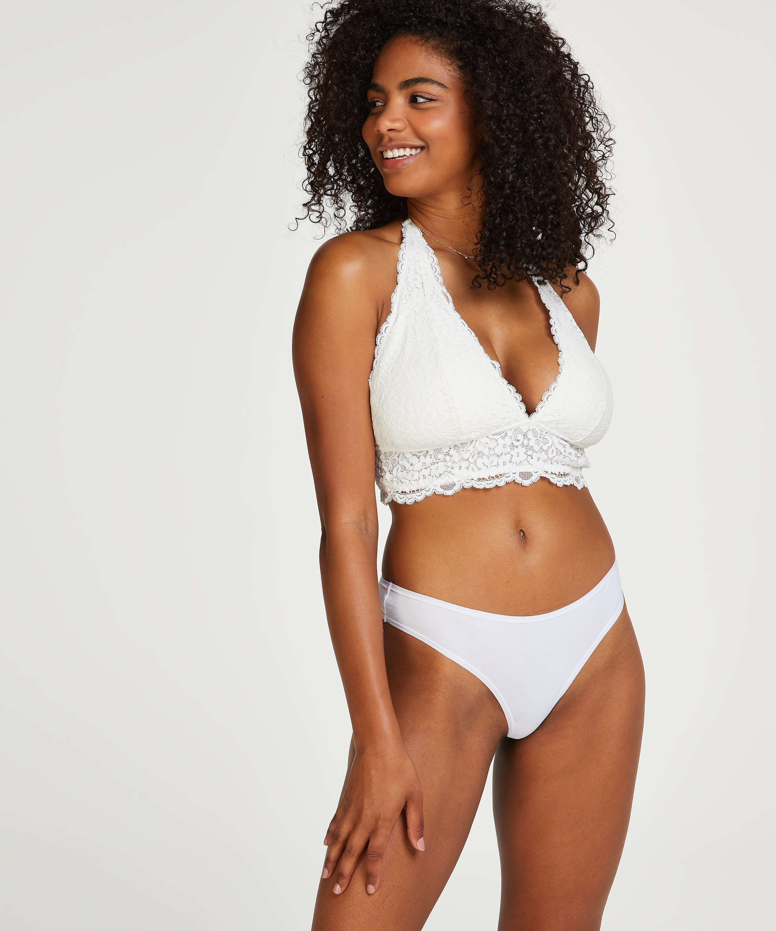 Lot de 2 string Kim Cotton, Blanc, main