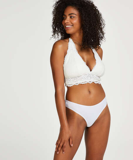 Lot de 2 string Kim Cotton, Blanc