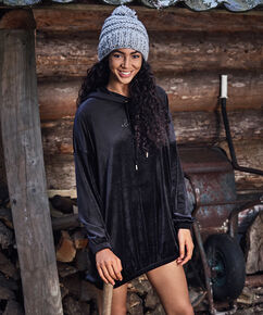 Peignoir Velours Dress, Noir