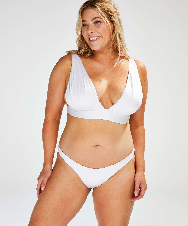 Haut de bikini Triangle Lola, Blanc, main