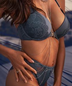 Body bijou Rebecca Mir, Gris