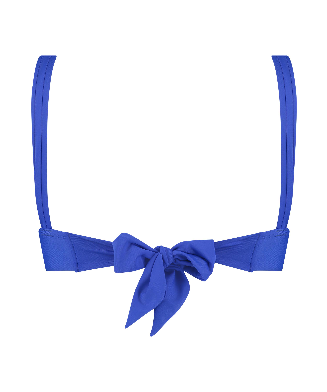 Haut de bikini triangle Luxe, Bleu, main