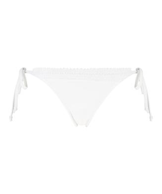 Bas de bikini string coquin Maldives, Blanc
