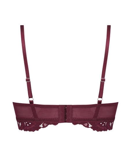 Soutien-gorge préformé sans armatures longline Shiloh, Rouge