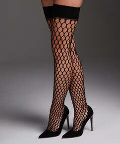 Stay-up Fishnet Private Big Sexy, Noir