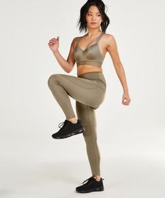 HKMX Legging de sport taille haute Shine, Vert
