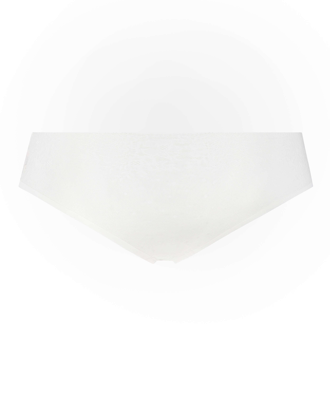 Invisible Slip brésilien Allover Lace (tout en dentelle), Blanc, main