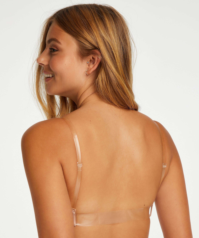 Soutien-gorge à armatures préformé push-up Transparent back, Beige, main