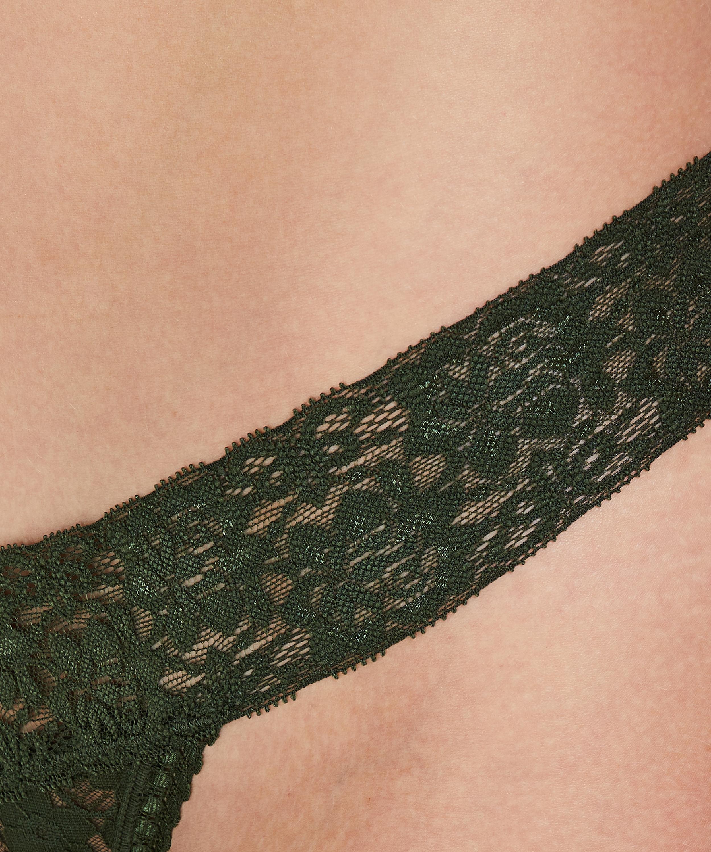 String dentelle florale, Vert, main
