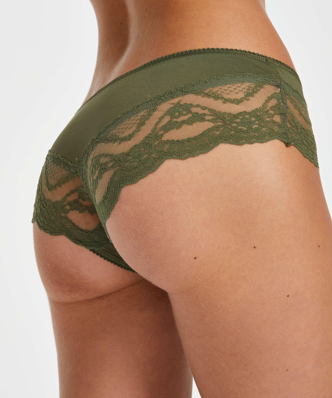 Slip brésilien micro Lacey, Vert, main