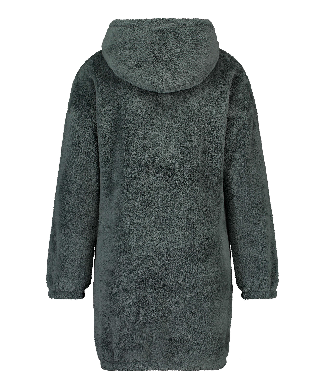 Robe snuggle polaire femme, Vert, main