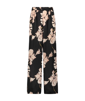 Pantalon Satin Bloom, Noir