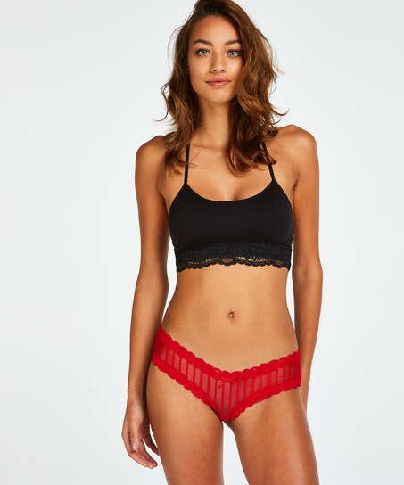 Slip brésilien V-shape mesh, Rouge