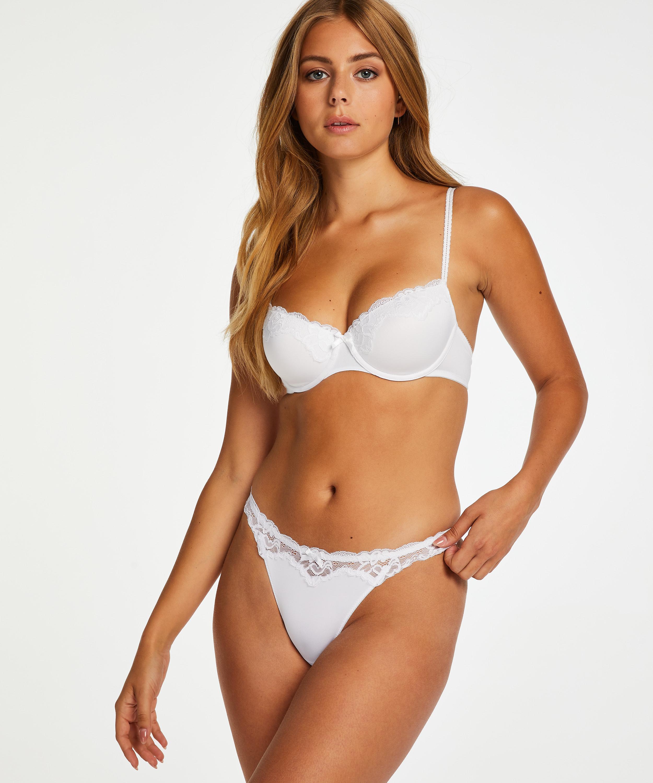 String Secret Lace, Blanc, main