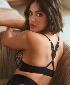 Soutien-gorge à armatures préformé push-up Kelsey Lucy Hale, Noir