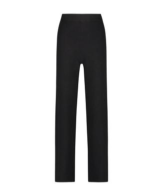 Premium Laange Hosen Knit, Noir