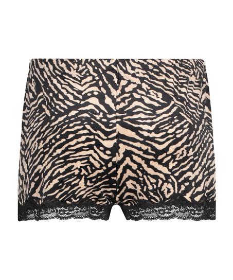 Short velours Zebra, Noir