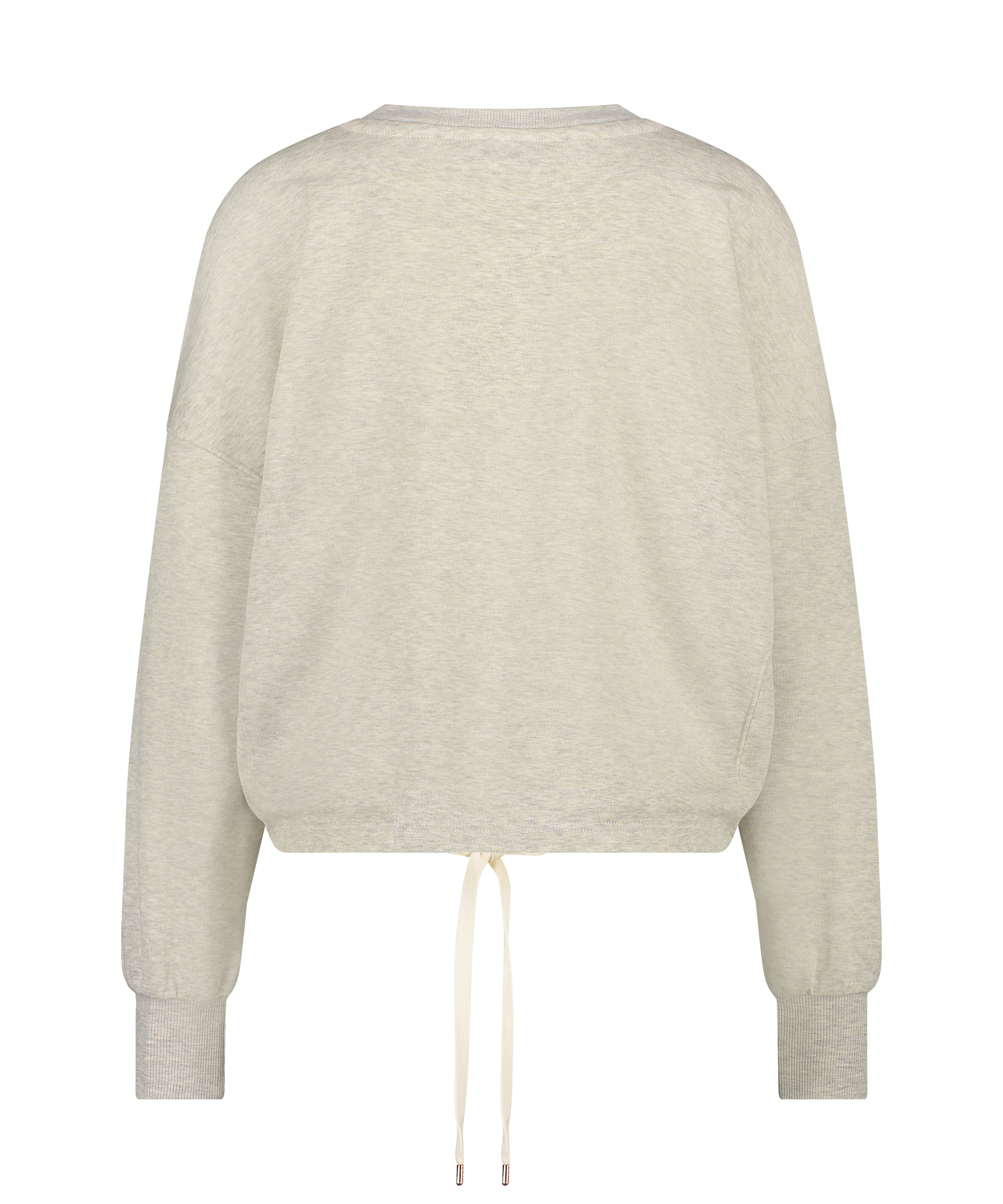 Top Manches Longues Boyfriend Brushed, Beige, main