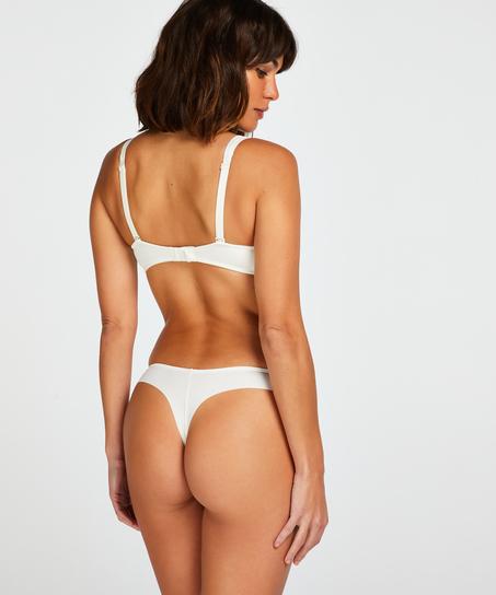 Soutien-gorge à armatures non-préformé Satin Fleece, Blanc