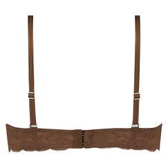 Soutien-gorge à armatures préformé sans bretelles Angie Nude, marron