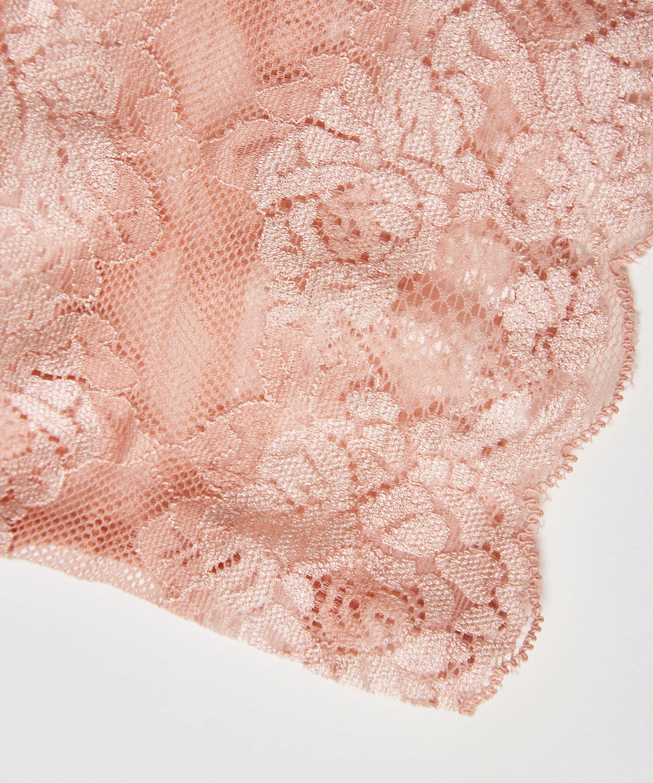 Bandes de cuisses anti-frottements en dentelle, Rose, main