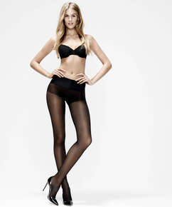 Collants 20 deniers sans couture, Noir