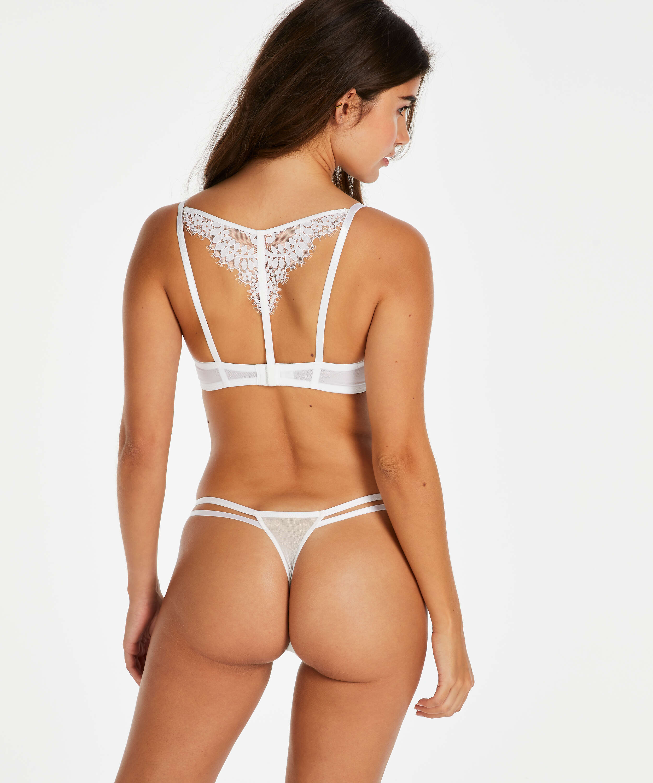 String tanga Leyla, Blanc, main