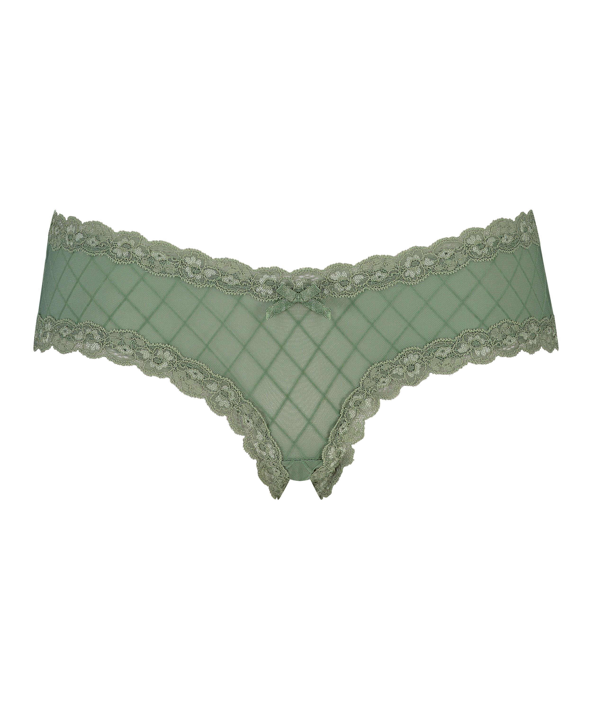 Slip brésilien V-shape mesh, Vert, main