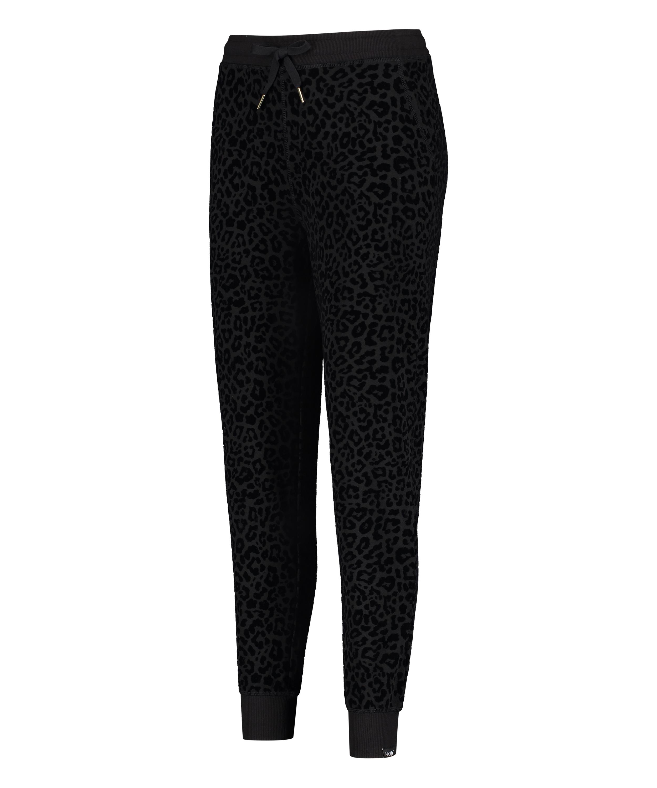 Pantalon de survêtement HKMX Léopard, Noir, main