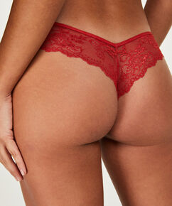 String Invisible Lace back, Rouge