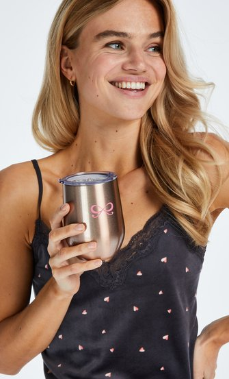 Tasse à café thermo, Rose
