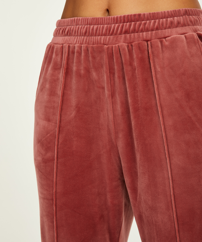 Pantalon Jogging Velours Pintuck, Rose, main