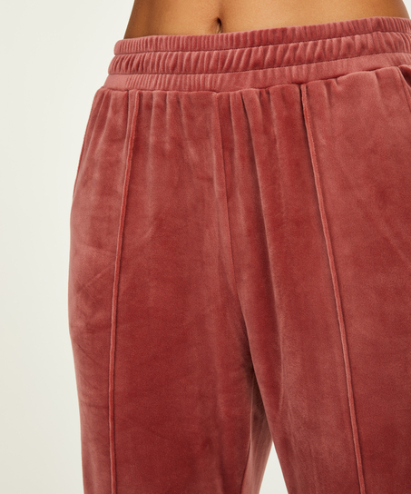 Pantalon Jogging Velours Pintuck, Rose