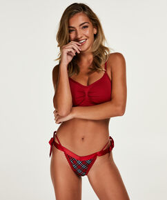 String taille extra basse Grace, Rouge