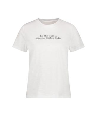 Haut de pyjama manches longues Jersey, Blanc