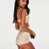 Culotte taille haute avec gaine sculptante en dentelle scuba - Level 3, Beige