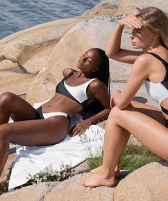 Haut de bikini crop top 2Tone HKM x NA-KD, Blanc