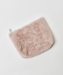 Trousse de maquillage Fake fur, Rose