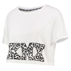 Crop top ajusté ample HKMX, Blanc