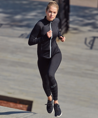 HKMX Legging taille régulière Run Baby Run, Noir