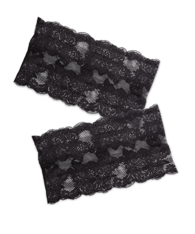 Bandes de cuisses anti-frottements en dentelle, Noir, main