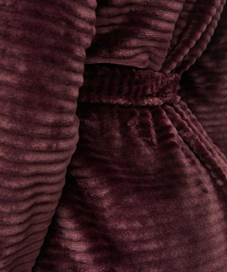 Peignoir court avec fermeture à glissière, Rouge