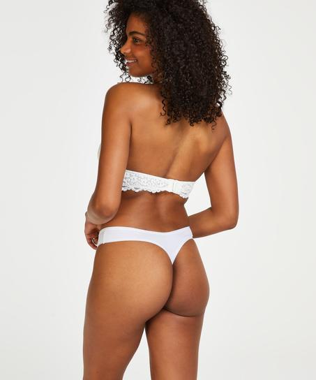 Lot de 2 string Kim Cotton, Blanc