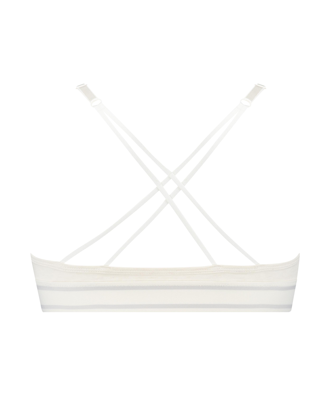 Brassière triangulaire moulée Coton Casey, Blanc, main