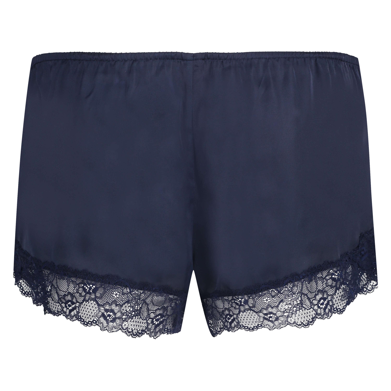 Short de pijama Satin, Bleu, main
