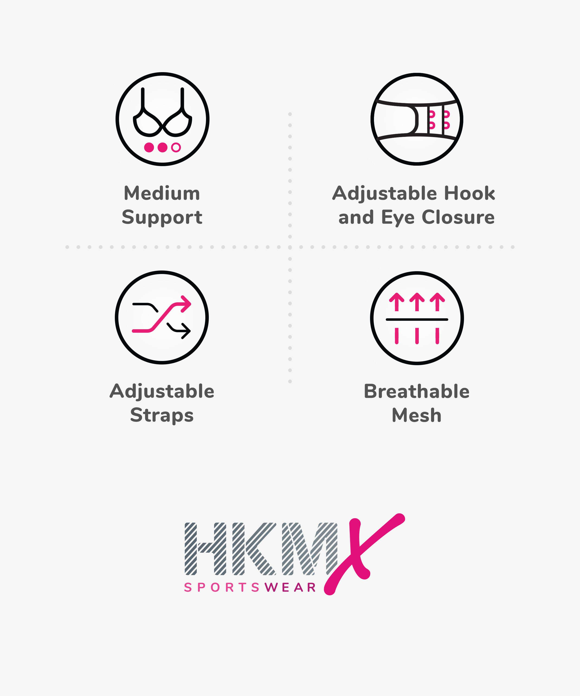 HKMX Soutien-gorge de sport The All Star Maintien niveau 2, Blanc, main