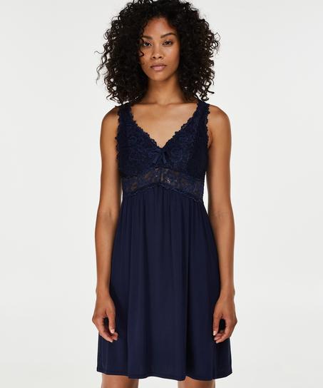 Nuisette Modal Lace, Bleu