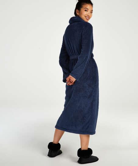 Long peignoir Polaire, Bleu